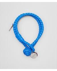 Bottega Veneta | Blue Intrecciato Bracelet | Lyst