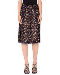 Roberta Scarpa Blue Knee Length Skirt