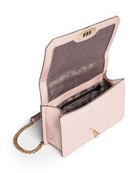 Rebecca Minkoff Pink 'love' Chevron Quilted Patent Leather Crossbody Bag