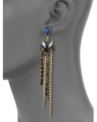 Erickson Beamon | Blue Lady Of The Lake Crystal Fringe Earrings | Lyst