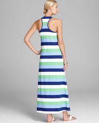 Tommy Bahama Green Skipper Stripe Long Tank Cover Up Dress