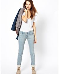 M.i.h Jeans | Blue Oslo Mid Rise Long Straight Leg Jeans in Surf | Lyst