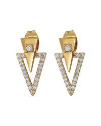 Gorjana | Metallic Shimmer Triangle Double Stud Earrings | Lyst