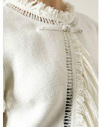Ermanno Scervino Natural Fringed Cropped Jacket