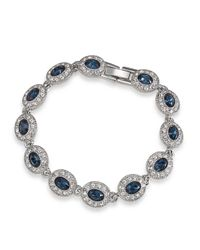 Carolee | Blue Bracelet, Silver-tone Oval Stone Flex Bracelet | Lyst