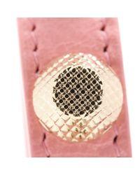 Balenciaga - Pink Giant Stud Leather Bracelet - Lyst