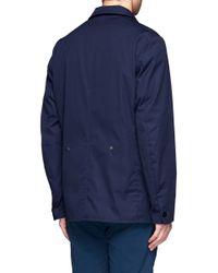 Nanamica Blue Bayhead Club Jacket for men