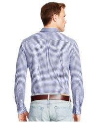 Polo Ralph Lauren   Blue Gingham Knit Dress Shirt for Men   Lyst