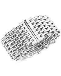 Calvin Klein - Metallic Stainless Steel Oval Link Bracelet - Lyst