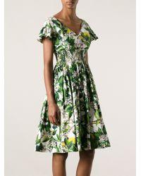 db9f002a3519a Lyst - Dolce   Gabbana Floral Print Dress in Green