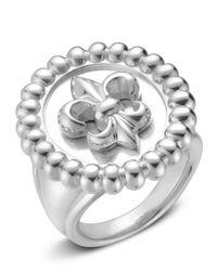 Slane - Metallic Sterling Silver Fleur De Lis Ring - Lyst