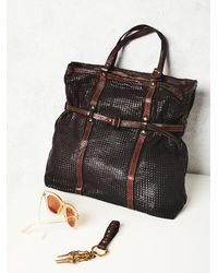 Free People - Black Campomaggi Womens Novella Leather Tote - Lyst