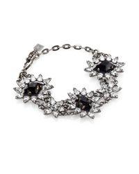 DANNIJO | Metallic Deliliah Crystal Bracelet | Lyst