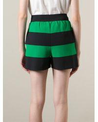 Stella McCartney Green 'rugby Stripes' Shorts