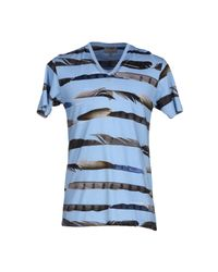Les Hommes | Blue T-shirt for Men | Lyst