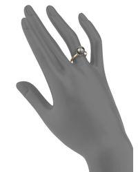 Saks Fifth Avenue - Metallic Tahitian Cultured Pearl 14k Yellow Gold Ring - Lyst