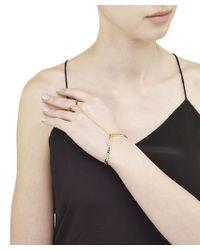 "Arme De L'Amour | Metallic ""v"" Dot Bracelet & Ring / Sale | Lyst"