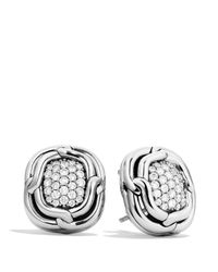 David Yurman Metallic Labyrinth Earrings With Diamonds