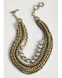 Ana Accessories Inc | Metallic Yes You Glam Necklace In Rhinestone | Lyst