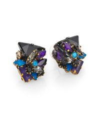 Erickson Beamon | Metallic Talitha Crystal Cluster Earrings | Lyst