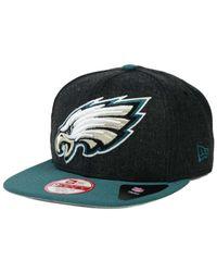 KTZ Green Philadelphia Eagles Logo Grand 9fifty Snapback Cap for men