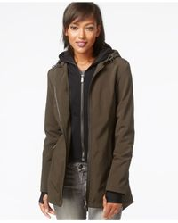 DKNY Green All-weather Soft-shell Jacket With Vest
