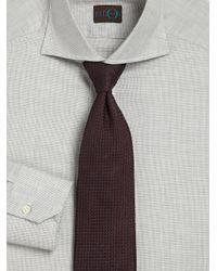 Eidos | Brown Silk Grenadine Tie for Men | Lyst