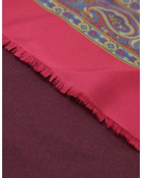 Jules B - Red Mens Silk Paisley Print Scarf for Men - Lyst