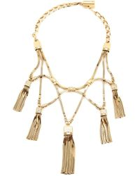 Lanvin | Metallic Tassel Necklace | Lyst