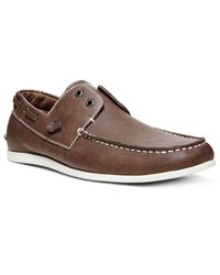 Steve Madden Brown Madden Game On Boat Shoes for men