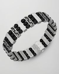 John Hardy - Black Batu Dayak Three Row Bead Bracelet for Men - Lyst