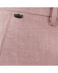 River Island Red Linen-blend Slim Smart Trousers for men
