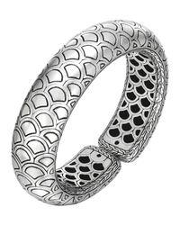 John Hardy Metallic Naga Silver Bold Flex Cuff
