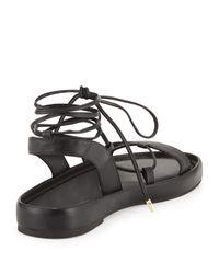 Diane von Furstenberg - Black Susie Leather Gladiator Sandal - Lyst