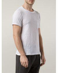 Bliss and Mischief White Chest Pocket T-Shirt for men