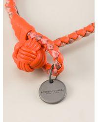 Bottega Veneta - Orange Woven Bracelet - Lyst
