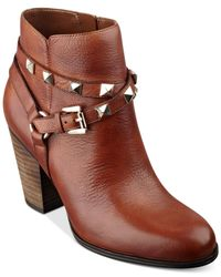 Guess - Brown Women's Fran Studded Booties - Lyst