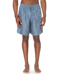 La Perla | Blue Oyster-jacquard Silk Pyjama Shorts for Men | Lyst