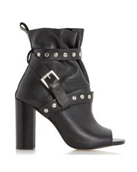 Dune Black Olenna High Block Heeled Ankle Boots