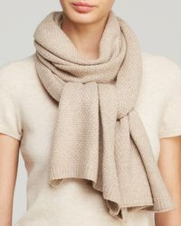 Echo - Natural Solid Wrap Scarf - Lyst