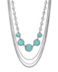 Lucky Brand | Blue Turquoise Collar Necklace | Lyst