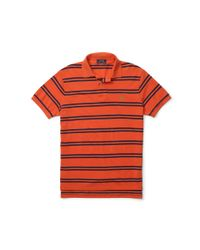 Polo Ralph Lauren | Orange Custom-fit Striped Mesh Polo for Men | Lyst