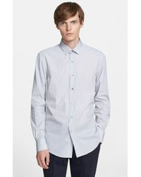 Lanvin - Black Extra Trim Fit Microstripe Dress Shirt for Men - Lyst