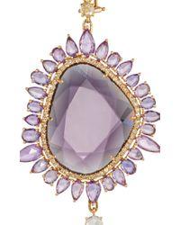 Sutra - Purple Sapphire Drop Earrings - Lyst