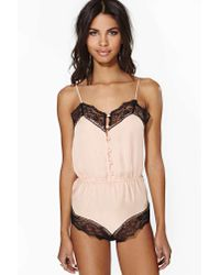 Nasty Gal | Pink All Yours Teddy | Lyst