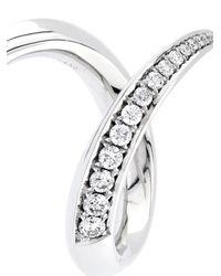Shaun Leane | Metallic Diamond & White-Gold Crossover Ring | Lyst
