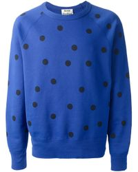 Acne Studios - Blue College Dot Sweatshirt for Men - Lyst