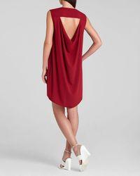 BCBGMAXAZRIA - Red Bcbg Max Azria Dress Jena Draped Placket Shift - Lyst