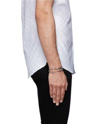 Alexander McQueen | Metallic Rifle Chain Double Wrap Skull Bracelet for Men | Lyst