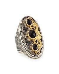 Konstantino - Metallic Imera Oval Ring W/ Onyx & Black Diamonds - Lyst